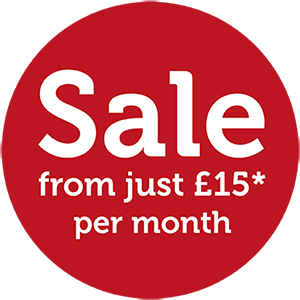 Sale: from just £15 per month